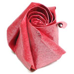 five-petals spiral origami  rose paper flower