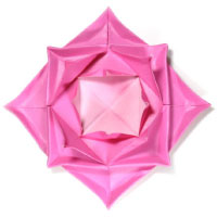 traditional fractal origami lotus flower