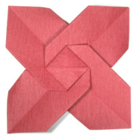 origami christmas flower, poinsettia