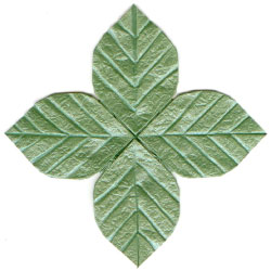 Quadruple Origami Leaf