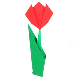 How to make origami tulip easy tulip mightylinksfo