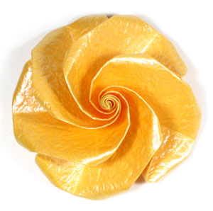 five-petals easy origami rose I