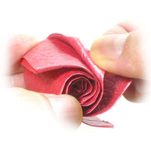 How to make a five petals spiral origami rose paper flower page 13 23th picture of five petals spiral origami rose paper flower mightylinksfo