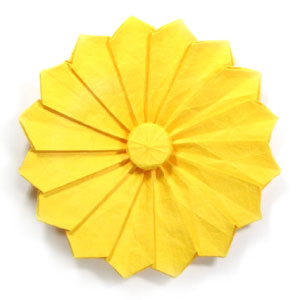 30th Picture Of Origami Daisy Flower III
