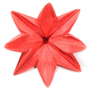 How to make origami paper flowers eight petals flower mightylinksfo