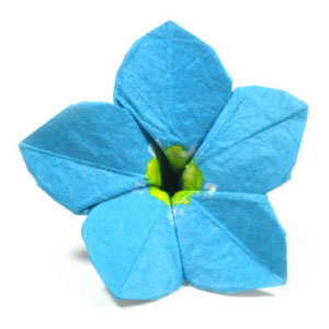 How to make an origami forget me not flower page 1 origami forget me not flower ccuart Image collections
