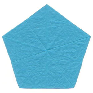 origami forget-me-not flower