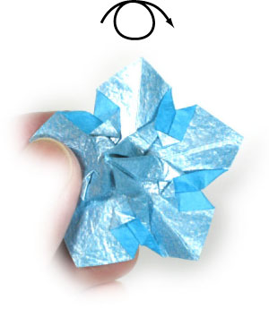 How to make an origami forget me not flower page 15 27th picture of origami forget me not flower ccuart Image collections