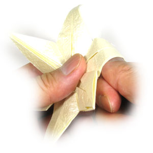 How to make an origami lily with six petals