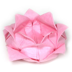 How to make origami paper flowers traditional lotus mightylinksfo