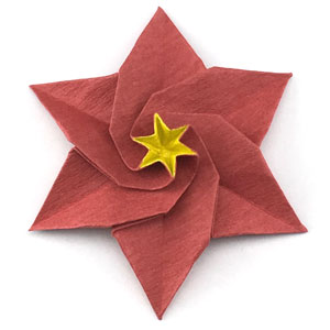 How to make an origami poinsettia flower page 1 origami poinsettia flower mightylinksfo