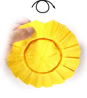 kids origami instructions easy: origami sunflower instructions | 338x300
