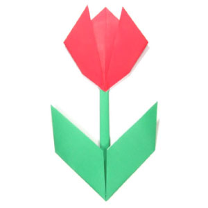 How to make origami flower easy origami tulip with two leaves ii mightylinksfo