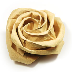 how to make a fuller-bloom new kawasaki rose origami flower: page 47