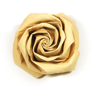 how to make a new swirl kawasaki rose origami flower: page 46