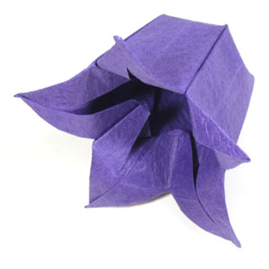 How to make origami paper flowers origami bellflower paper bellflower mightylinksfo