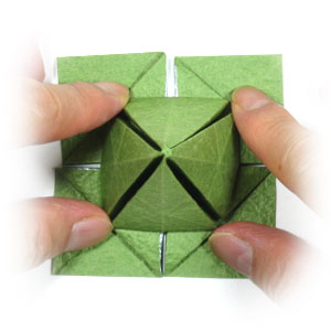 How to make a four-leaf origami clover: page 15 - photo#29
