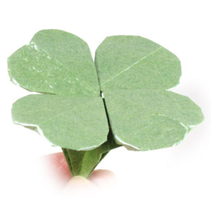 How to make a four-leaf origami clover: page 1 - photo#5
