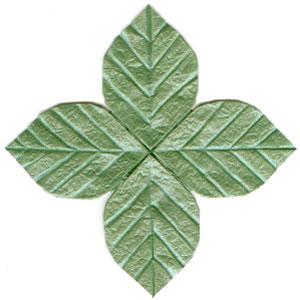 How to make origami leaf quadruple leaf mightylinksfo Gallery