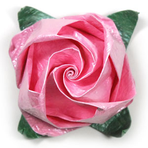 jewelry origami rose paper flower