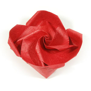How to make origami rose paper flowers easy rose iii image mightylinksfo