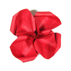 pretty origami rose paper flower