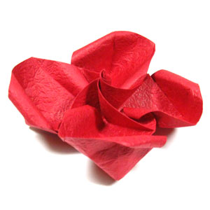 How to make origami rose paper flowers easy rose iii lovely rose image mightylinksfo