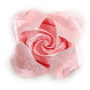 How to make an origami rose paper flower swirl rose page 1 swirl origami rose paper flower mightylinksfo