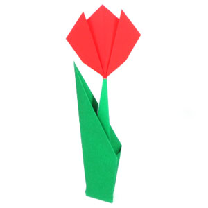 Origami flowers with stems images flower decoration ideas origami flower with stem images flower decoration ideas how to make a simple origami stem page mightylinksfo