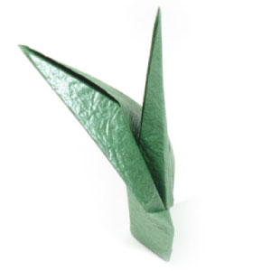 How to make origami paper flower stem traditional origami stem mightylinksfo Choice Image